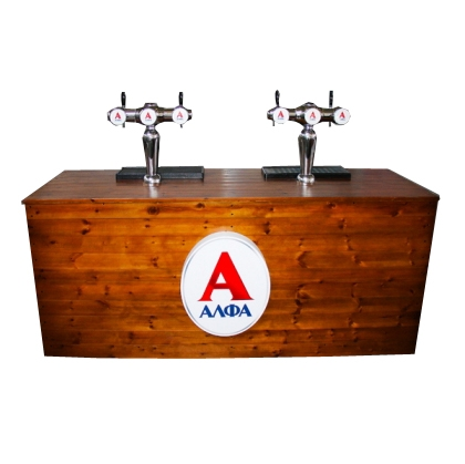 Bar draft beer two taps