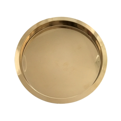 Serving Gold Tray - Stainless Steel