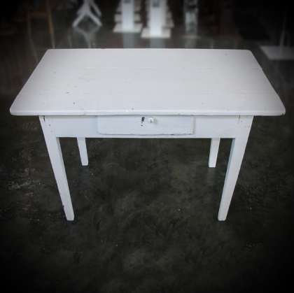 Wooden Table white 55cm X 97cm