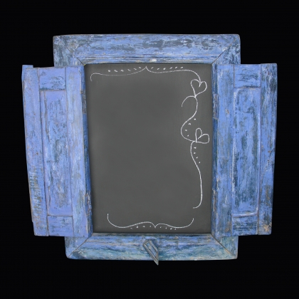 Chalk board Stand Greek windows