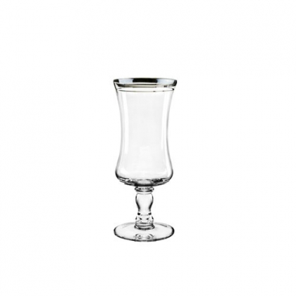 Imperial Water Glass With Silver Rim