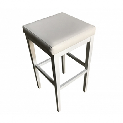 Stool - Wooden white washed