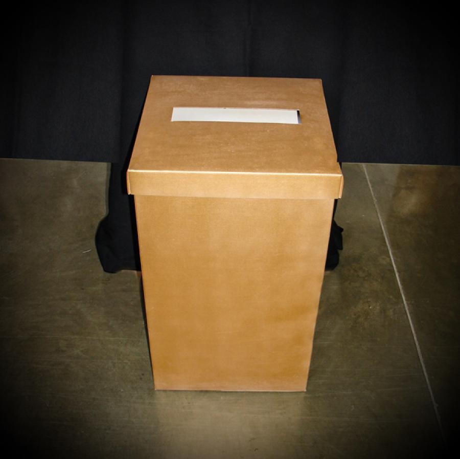 Wedding envelope box gold