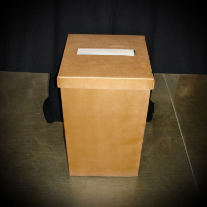 Wedding envelope box gold