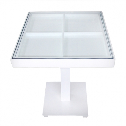 Small square Table glass on top 60x60cm