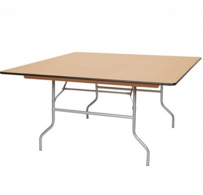 Square Table Wood top 120cm x 120cm