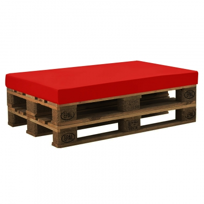 Ethnic Wooden Pallet Bench with Cushion