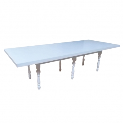 Kids table White with classic legs