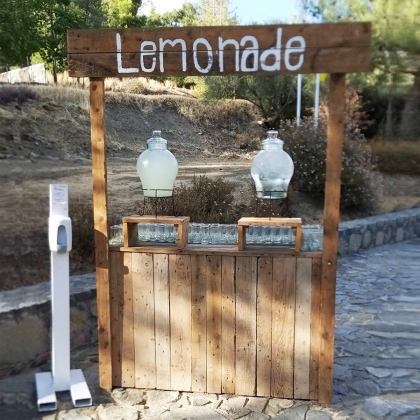 Lemonade stand wooden rustic for Rustic lemonade stand