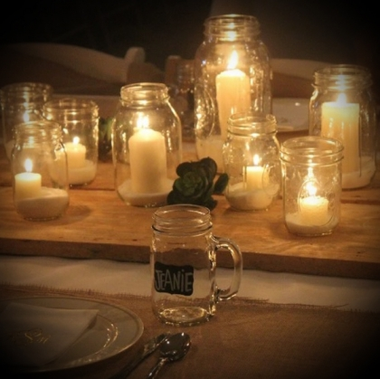 Jar Candle Holders