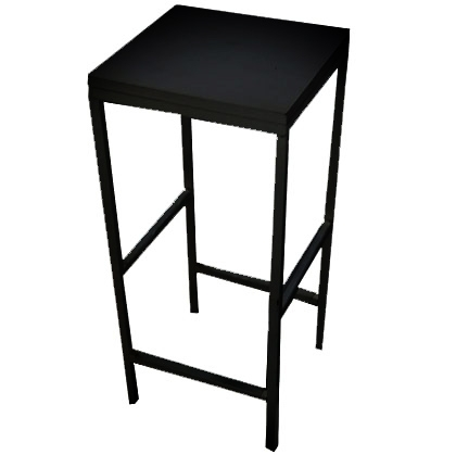 Stool Steel Black with wooden seat