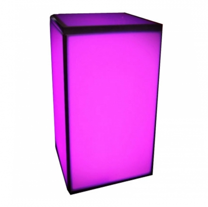 Plexiglass lighted