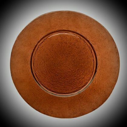 Charger Plate - Brown Glass