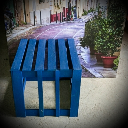 Blue Wooden Box