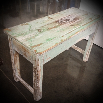 Rustic Wooden white-wash side table