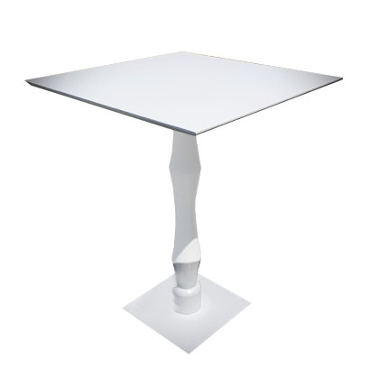High top table classic square white