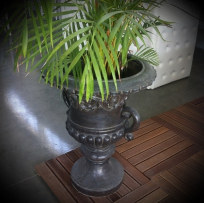 Antique Brown Urn