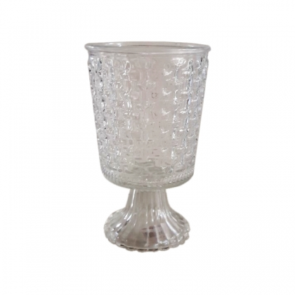Glass Pot Clear Large