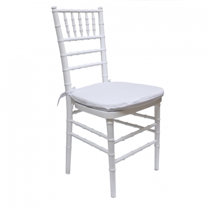Chair Chiavari White wooden