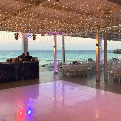 Dance Floor White Shiny