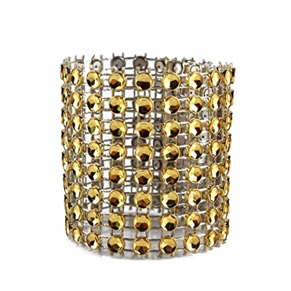 Napkin Ring - Gold Swarovski