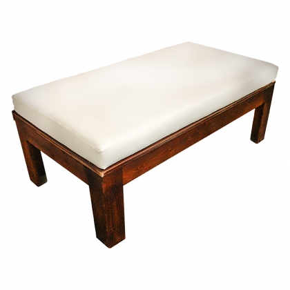 Wooden Bench with cushion