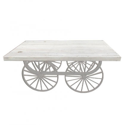 Buffet Table Wagon White