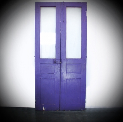 Rustic village violet Door