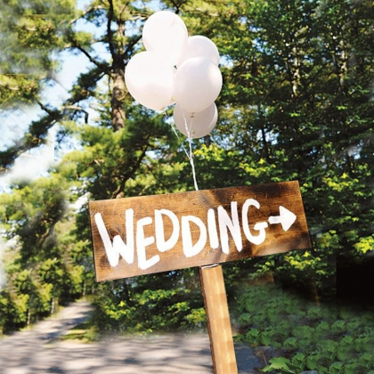 Wedding Wooden Directional Sign