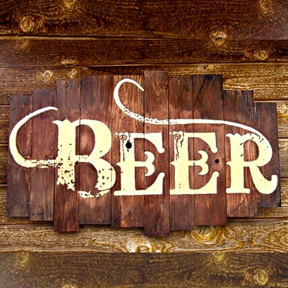 Wooden Sign for Beer