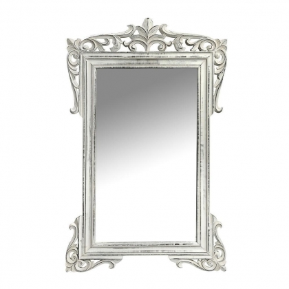 Mirror Frame Whitewash French Style 69X109cm