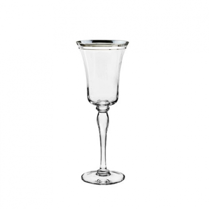 Imperial Wine Glass With Silver Rim