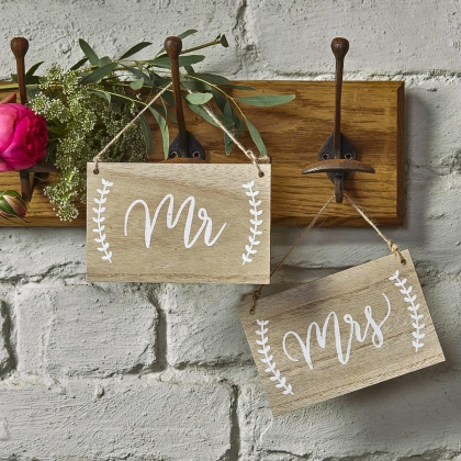 Wooden Sign for Mr & Mrs B