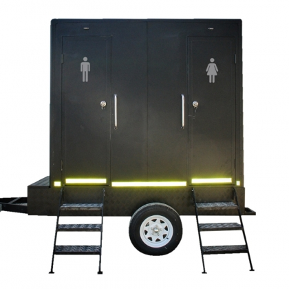 Luxury Toilet Trailer Black