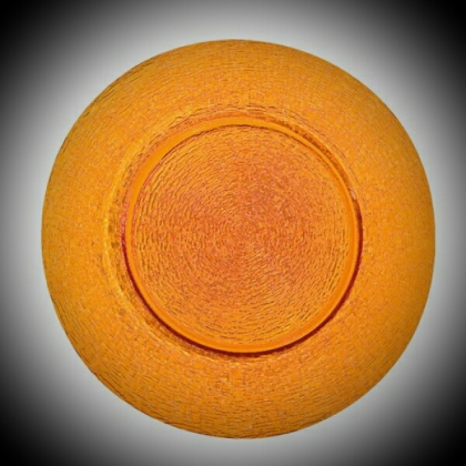 Charger Plate - Orange Glass