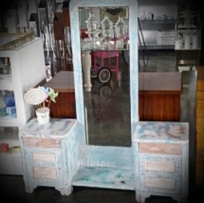 Rustic mirror furniture