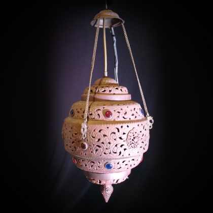 Ethnic lantern bronze steel