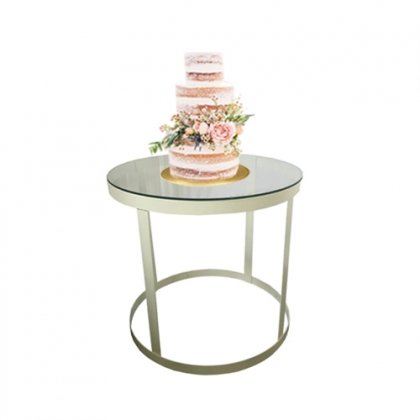 Cake table white steel round base