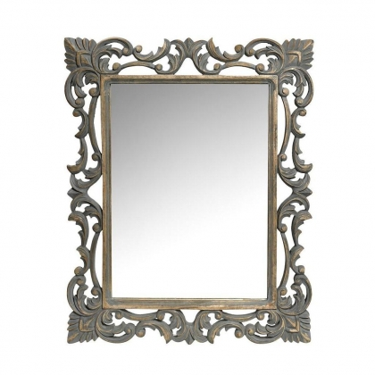 Mirror Frame wooden Victorian Carved 84 X 69cm