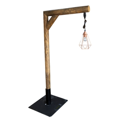 Pole Light - Wood Color