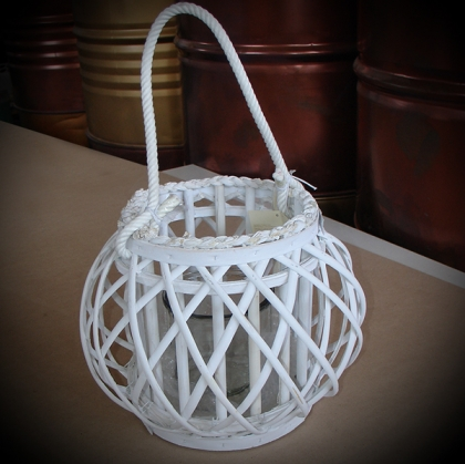 basket Lantern white