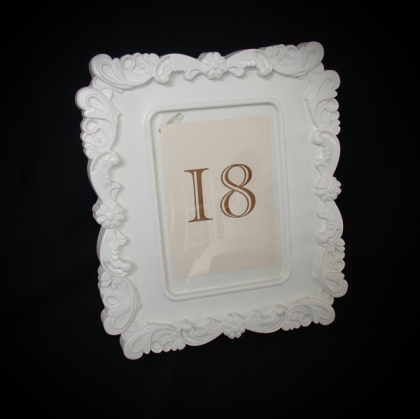 Table Number - Antique White frame 02