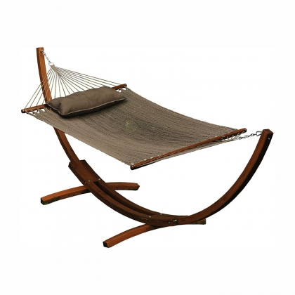 Hammock with wooden base