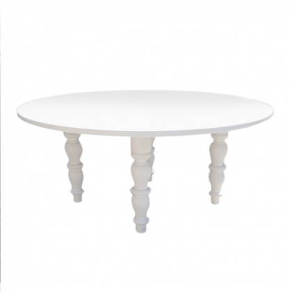 Wooden table Round Classic White