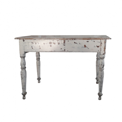 Rustic Classic Wooden White-wash side table