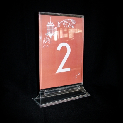 Table Number - Plexiglass Clear 1