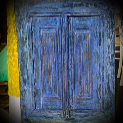 Old Blue Window Board