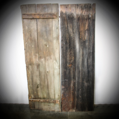 Rustic village Old wooden Door