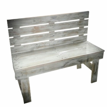 Bench Wooden Rustic white