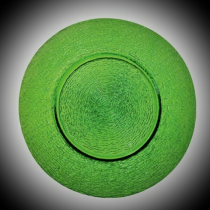 Charger Plate - Green Glass
